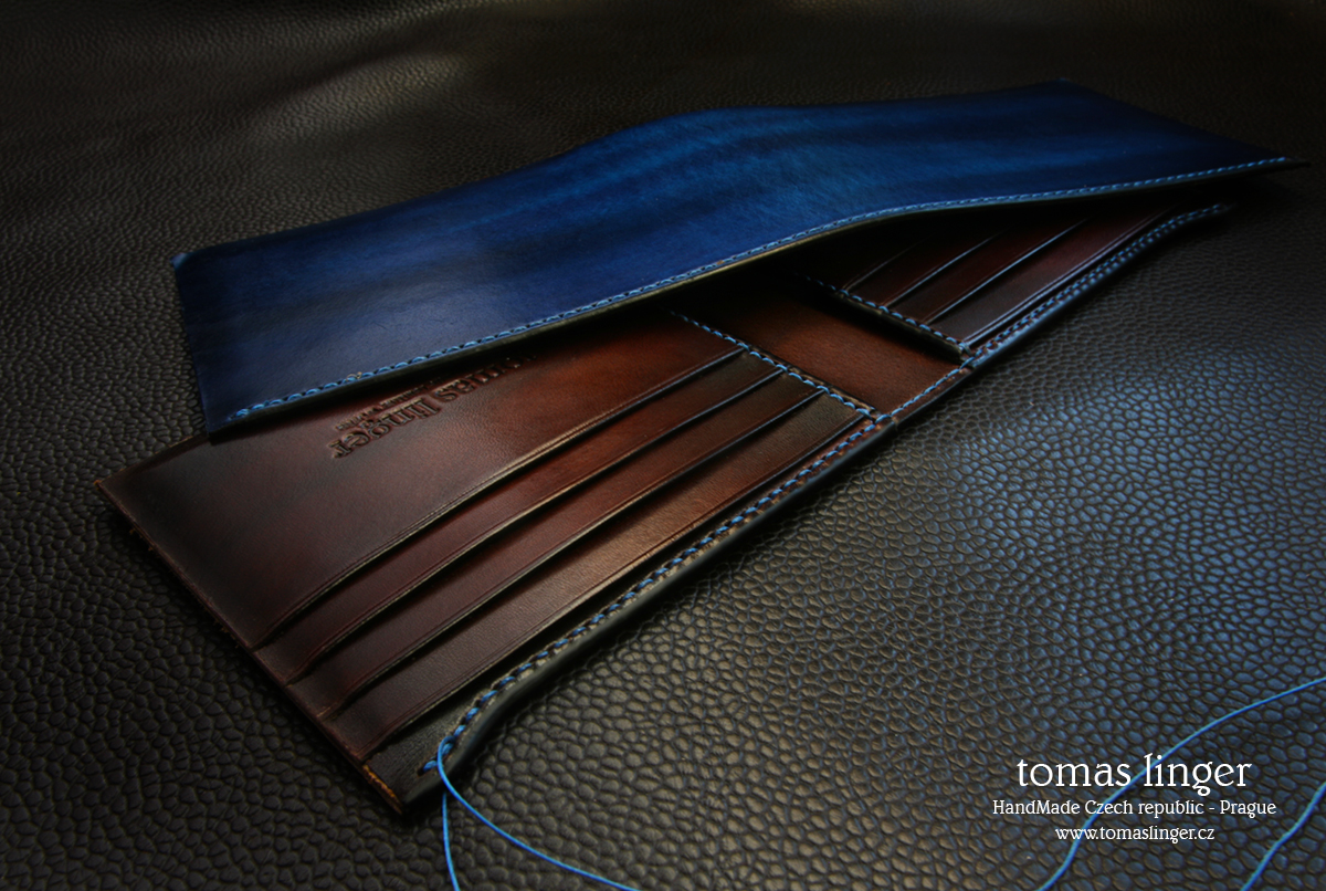 bespoke leather wallet tomas linger