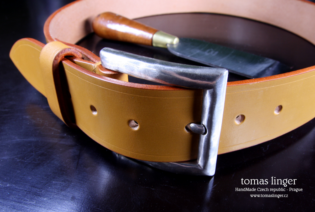 bridle leather london tan belt