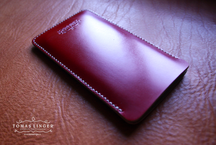 case for iphone bridle leather red