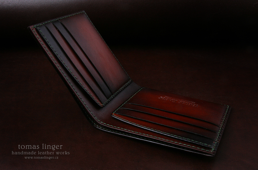 Men's wallet from the genuine crocodile leather. Made to order.