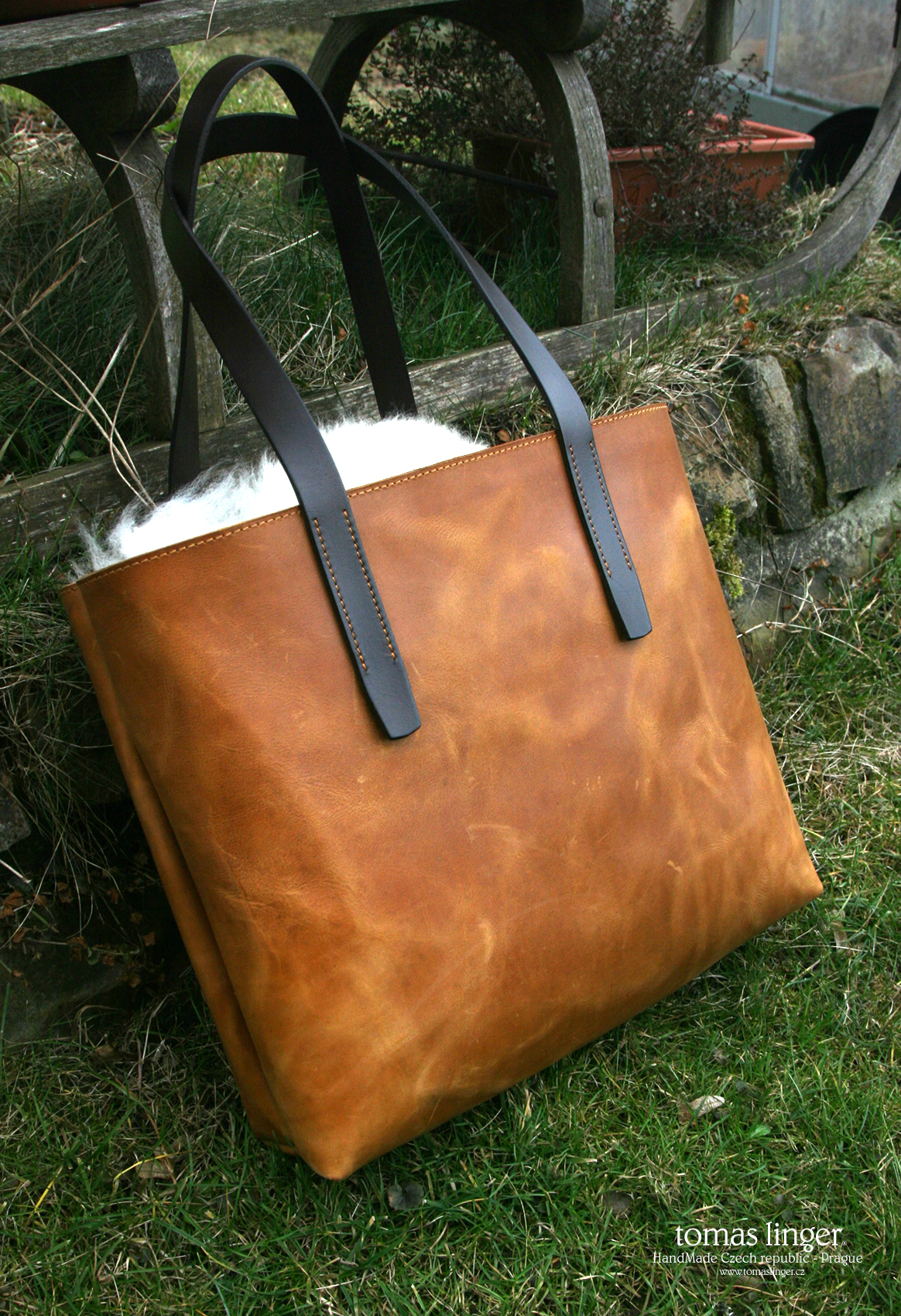 Tote Bag handmade leather