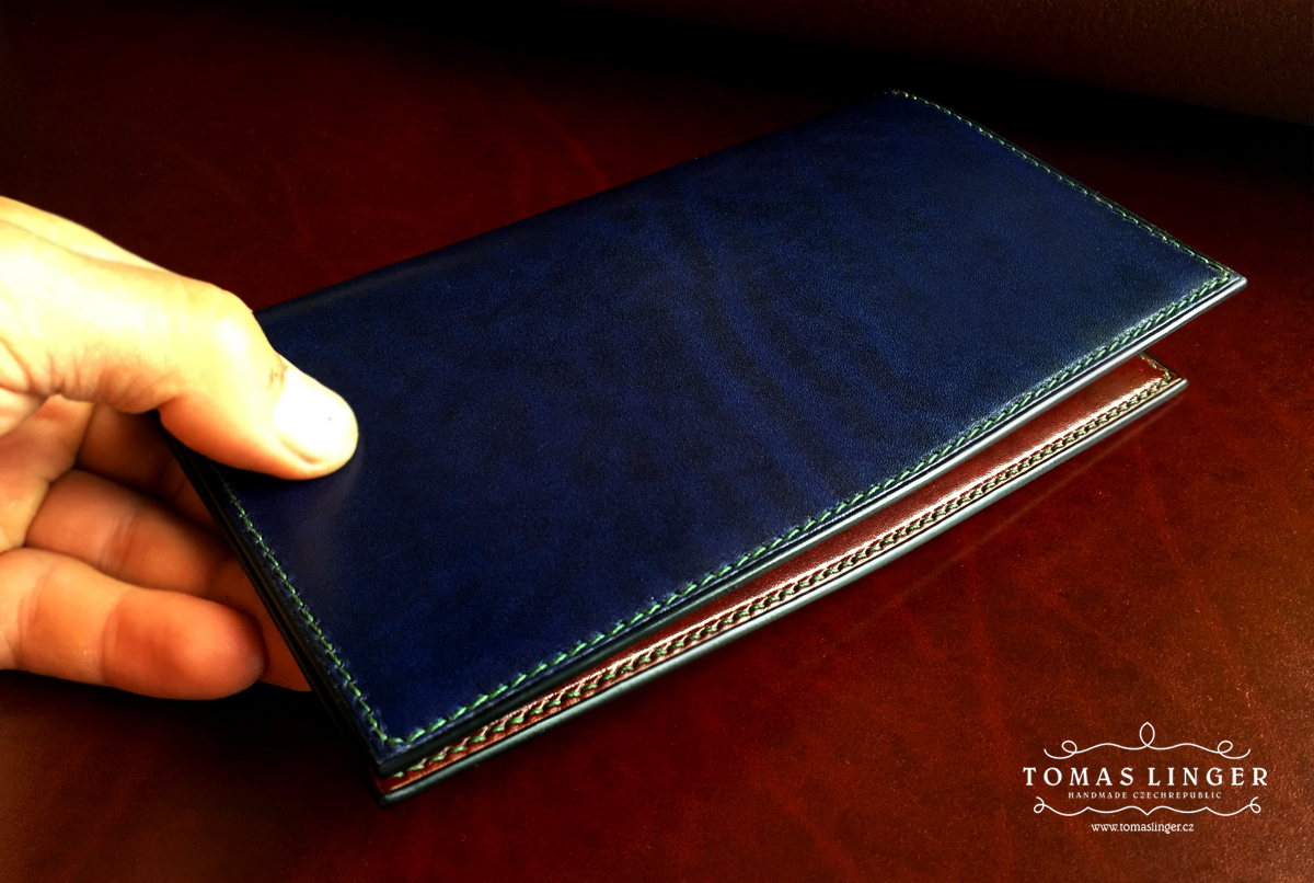 longwallet handmade leather bespoke
