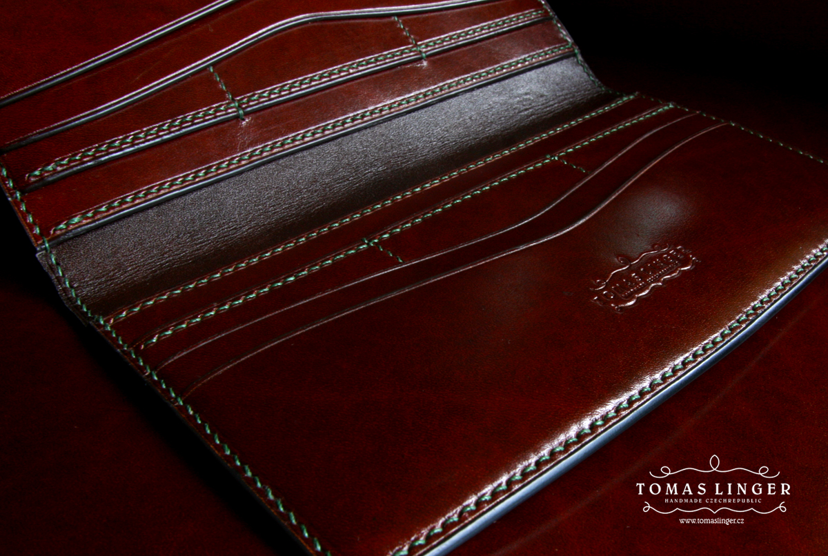long wallet handmade leather